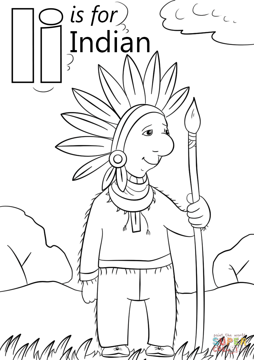 coloring sheet i start with the letter i colouring page coloring sheet i