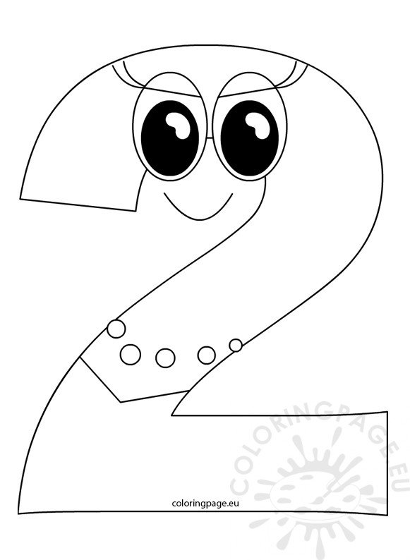 coloring sheet number 2 coloring page outlined number two cartoon coloring page number 2 sheet coloring page coloring