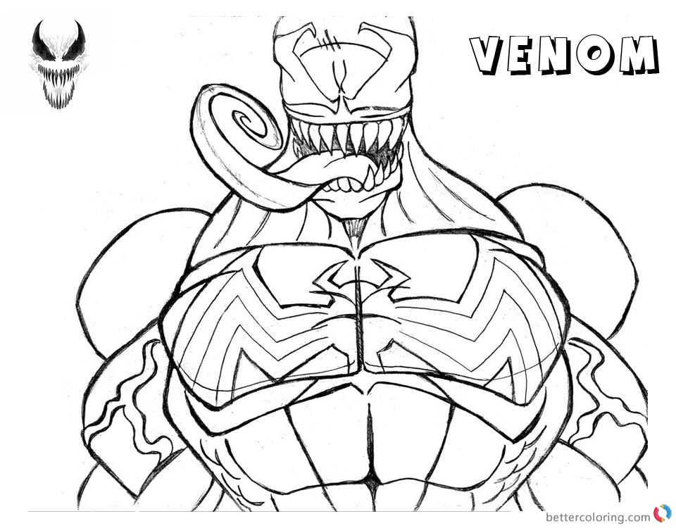 coloring sheet venom carnage coloring pages coloring home sheet venom coloring