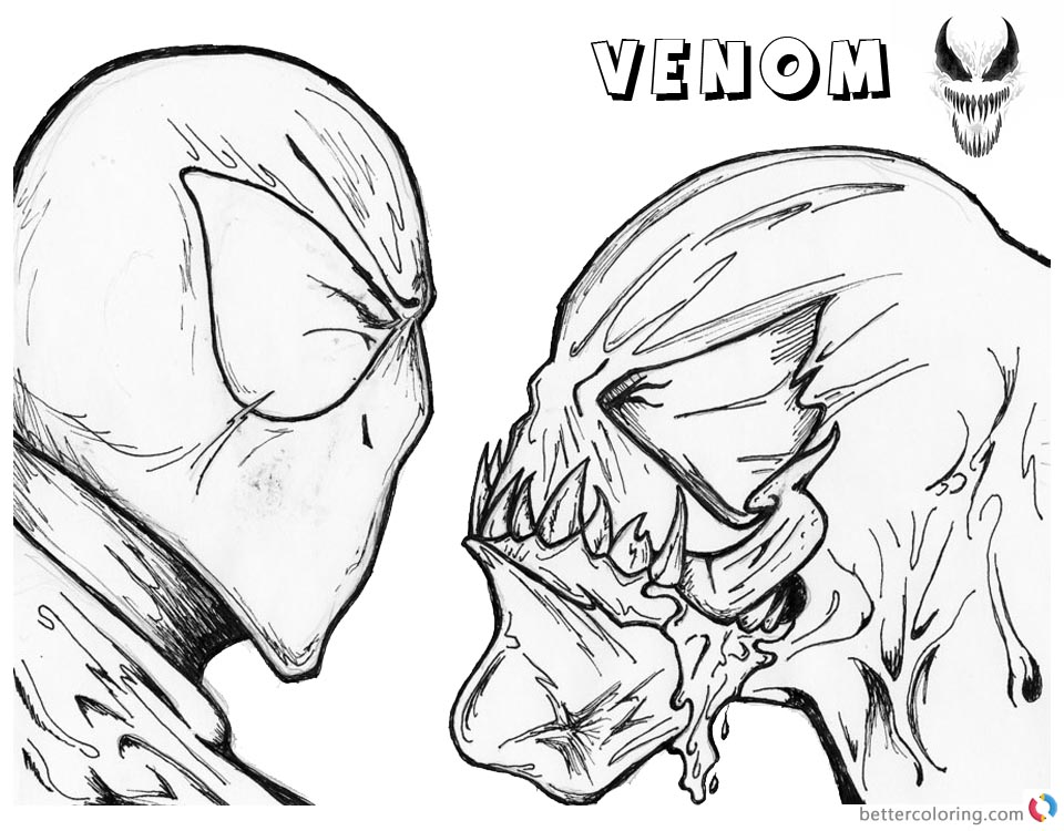 coloring sheet venom venom coloring pages simple lineart picture free venom sheet coloring