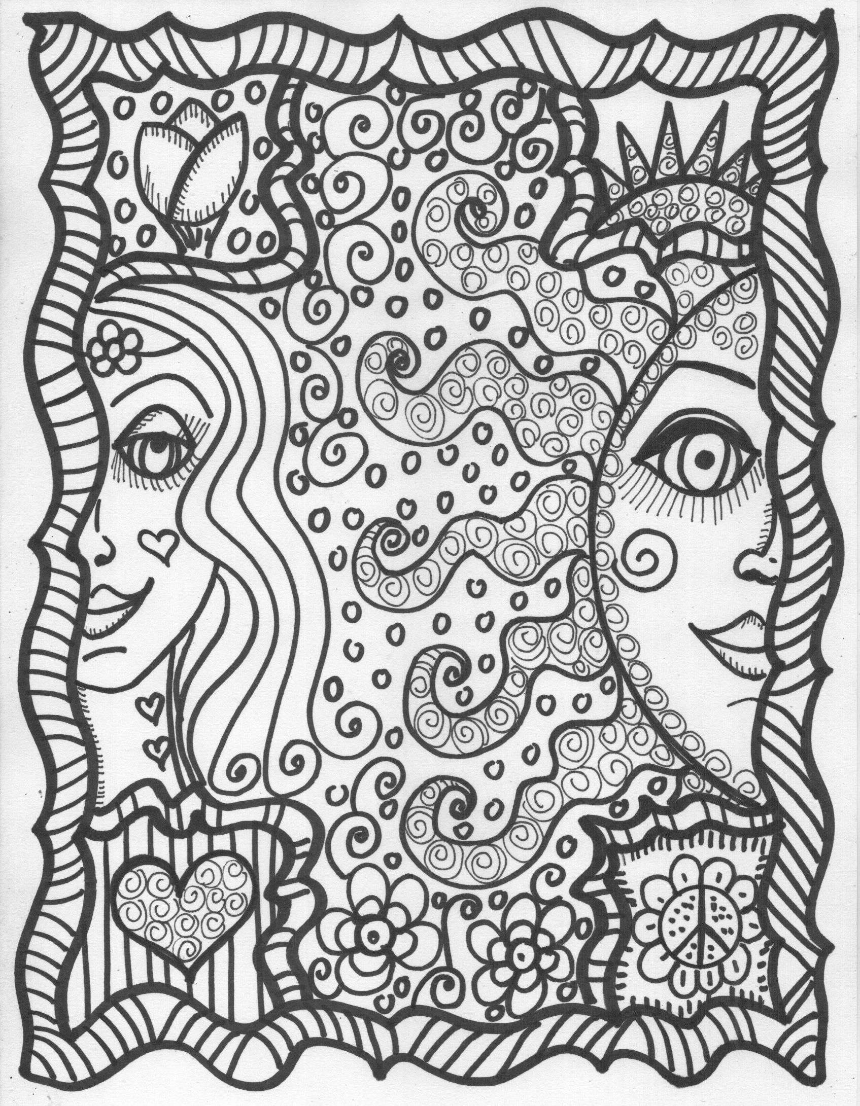 coloring sheets cool cool hippie coloring pages coloring home sheets cool coloring