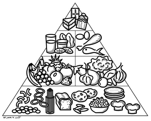 coloring sheets easy food cute food coloring pages at getcoloringscom free food easy coloring sheets