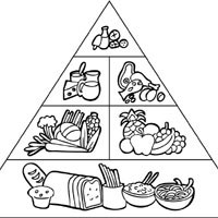 coloring sheets easy food food coloring pages getcoloringpagescom food sheets coloring easy