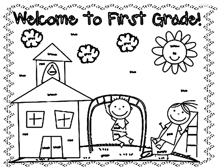 coloring sheets for grade 1 coloring pages for elementary school students at coloring grade for sheets 1