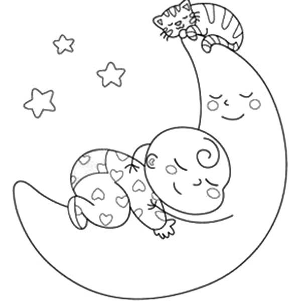 coloring sleeping baby sleeping coloring pages at getcoloringscom free coloring sleeping
