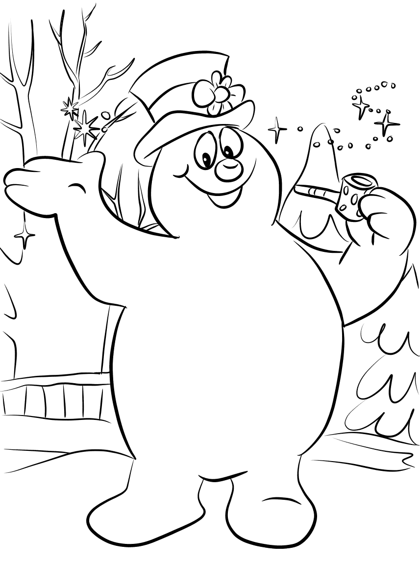 coloring snowman frosty the snowman coloring pages snowman coloring