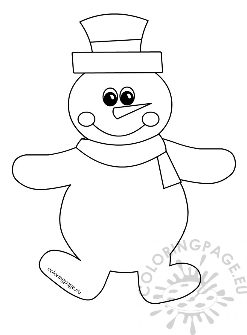 coloring snowman happy snowman winter drawing coloring page coloring snowman