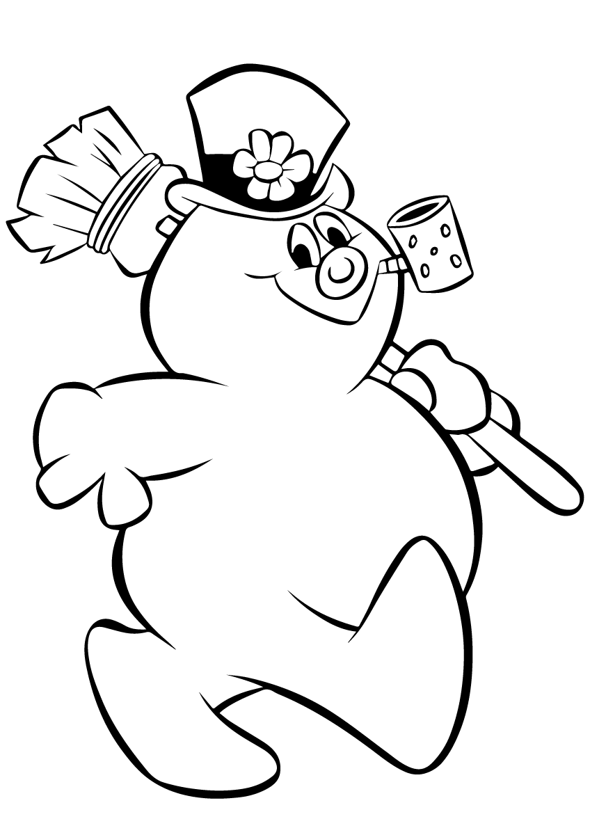 coloring snowman simple snowman coloring pages at getcoloringscom free coloring snowman