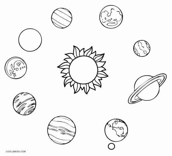 coloring solar system planets planet coloring pages the nine planets solar system solar system planets coloring