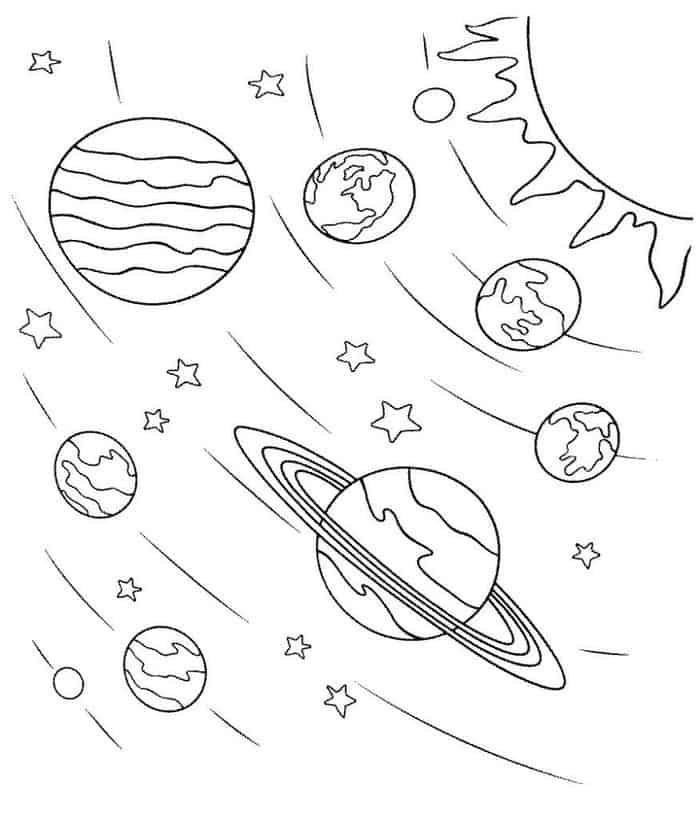 coloring solar system planets the planets in solar system coloring pages page 4 pics system planets solar coloring