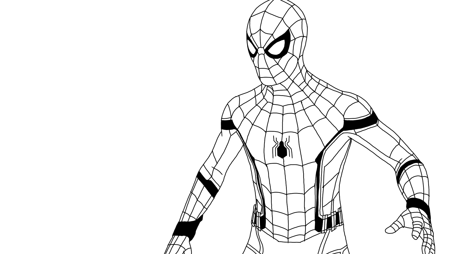 coloring spider man far from home spider man far from home drawing sketch from far spider coloring man home