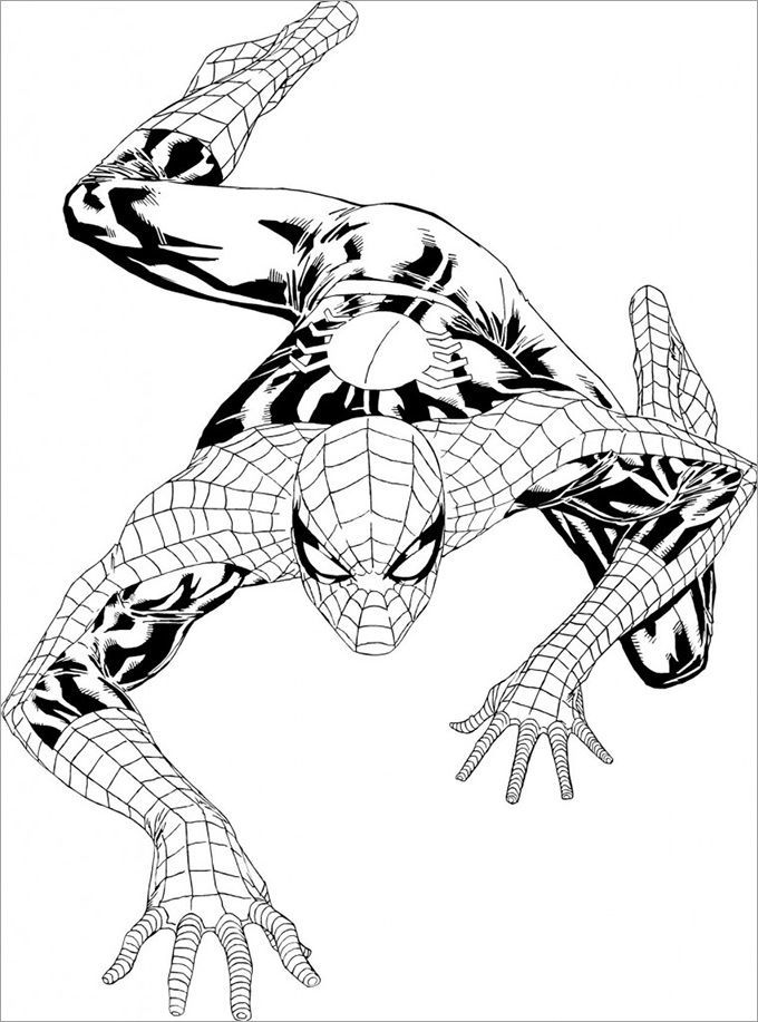 coloring spider man far from home spider man far from home printable coloring pages di 2020 spider coloring home from man far