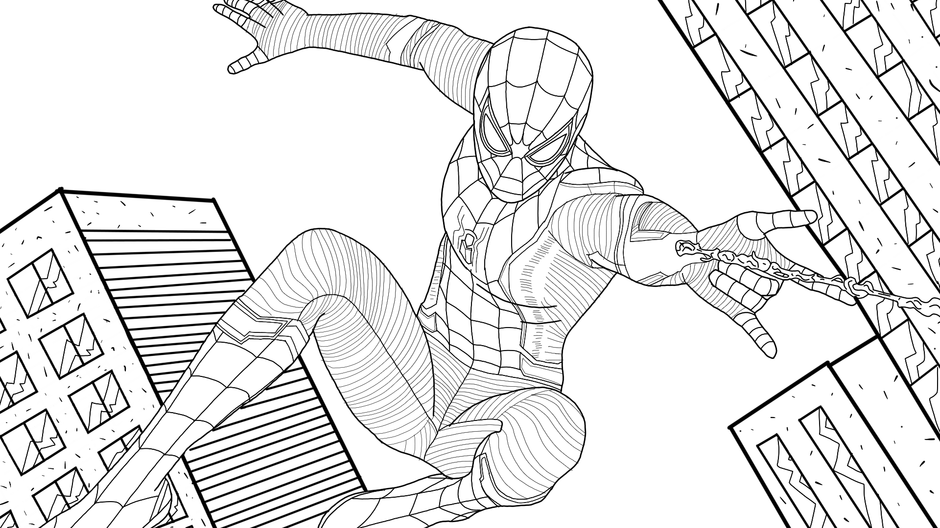 coloring spider man far from home spider man superhero coloring pages from coloring home spider man far