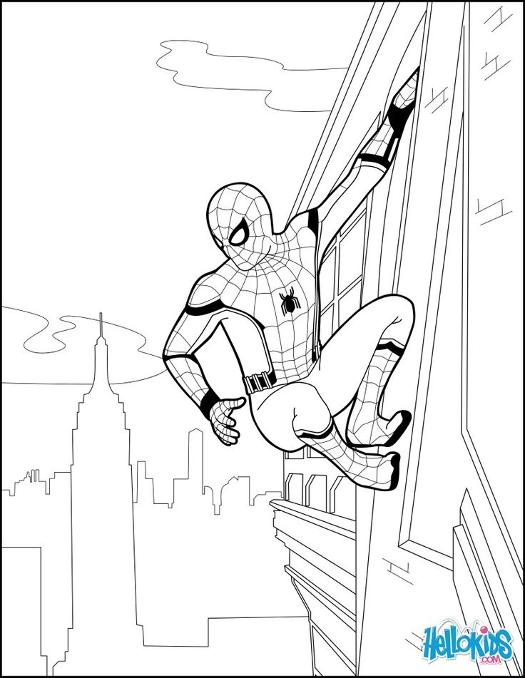 coloring spider man far from home spiderman coloring page from the new spider homecoming far home spider man from coloring