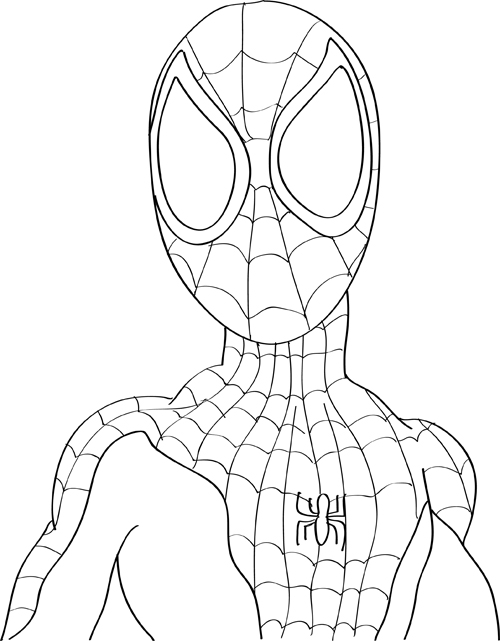 coloring spiderman drawing easy coloring spiderman drawing easy drawing easy spiderman coloring