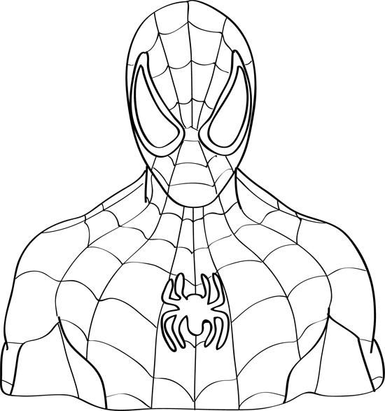 coloring spiderman drawing easy spider man drawing easy at getdrawings free download drawing coloring spiderman easy