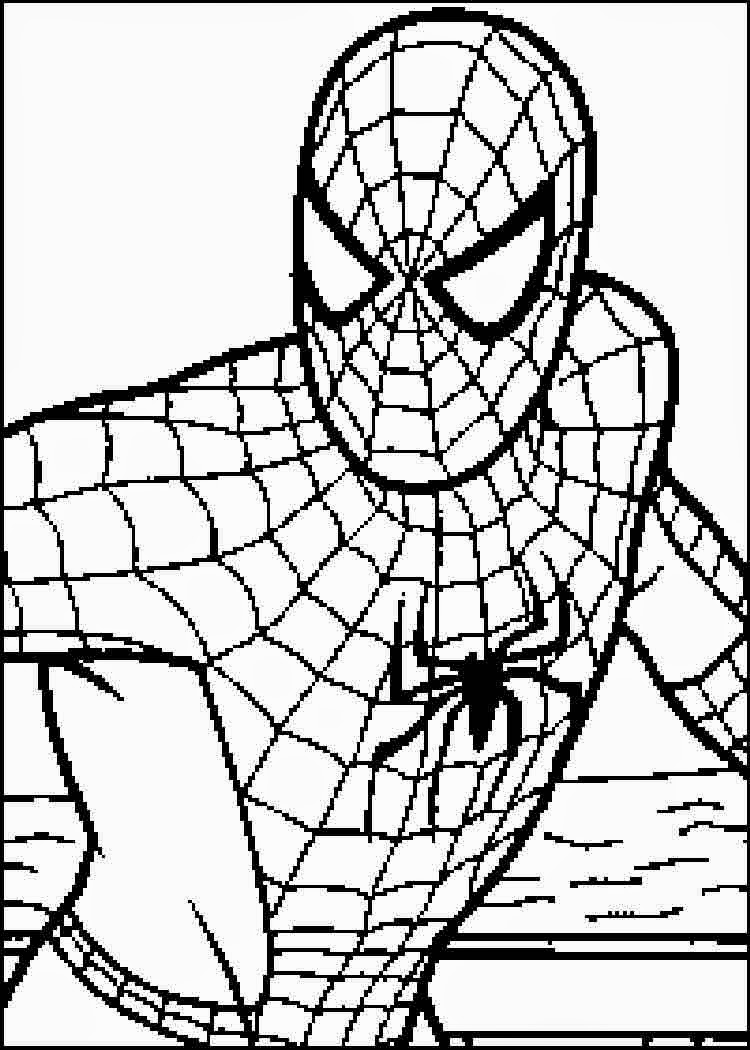 Coloring spiderman drawing easy