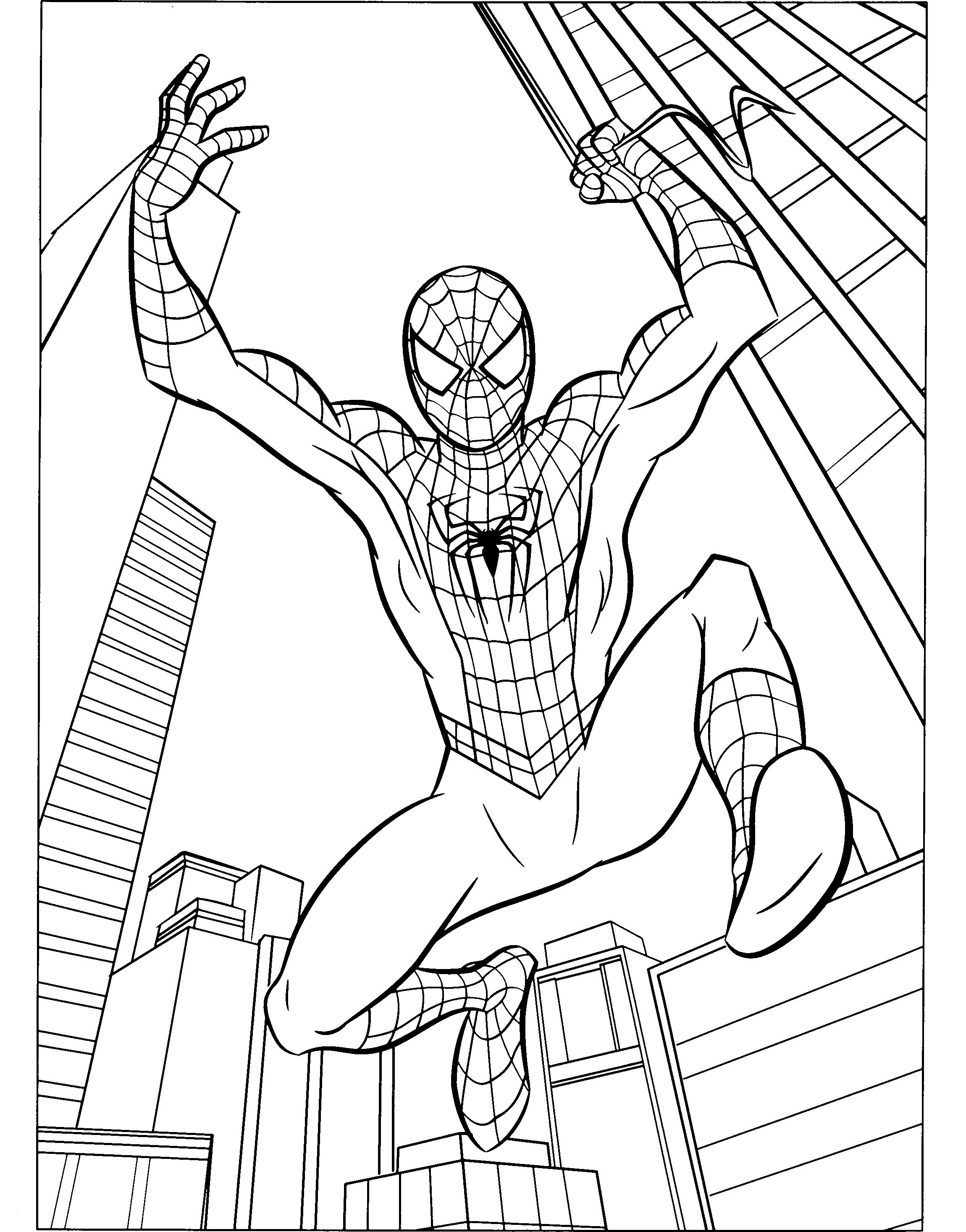 coloring spiderman drawing easy the best free spiderman drawing images download from 2353 coloring easy spiderman drawing