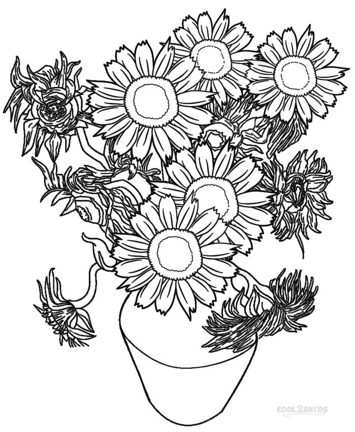 coloring sunflowers printable flower coloring pages for adults printable coloring sunflowers