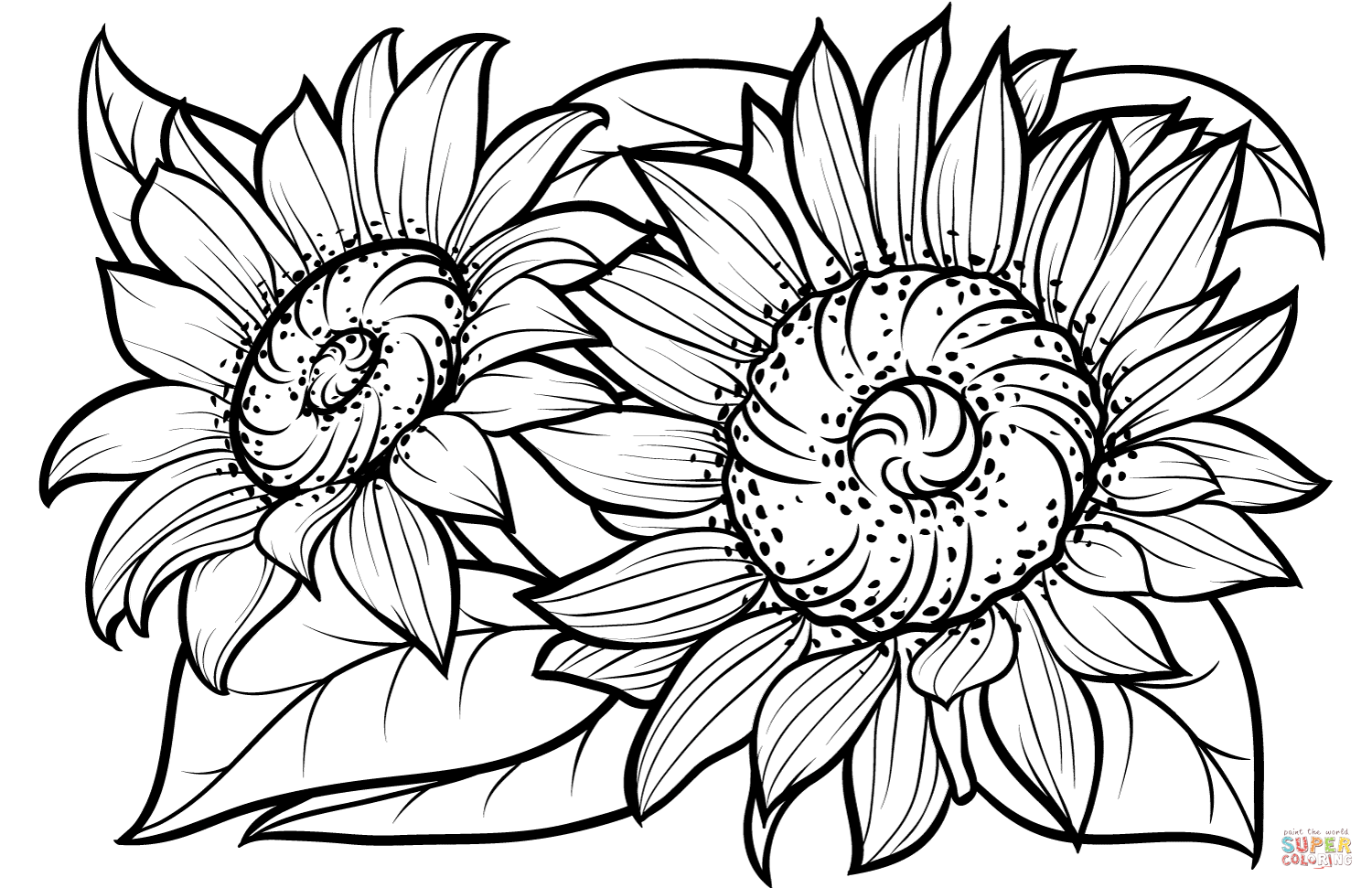 coloring sunflowers printable sunflower coloring pages free coloring pages clipartsco sunflowers coloring printable