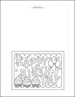 coloring template birthday card printable 6 best images of printable birthday cards for dad to color template printable card coloring birthday