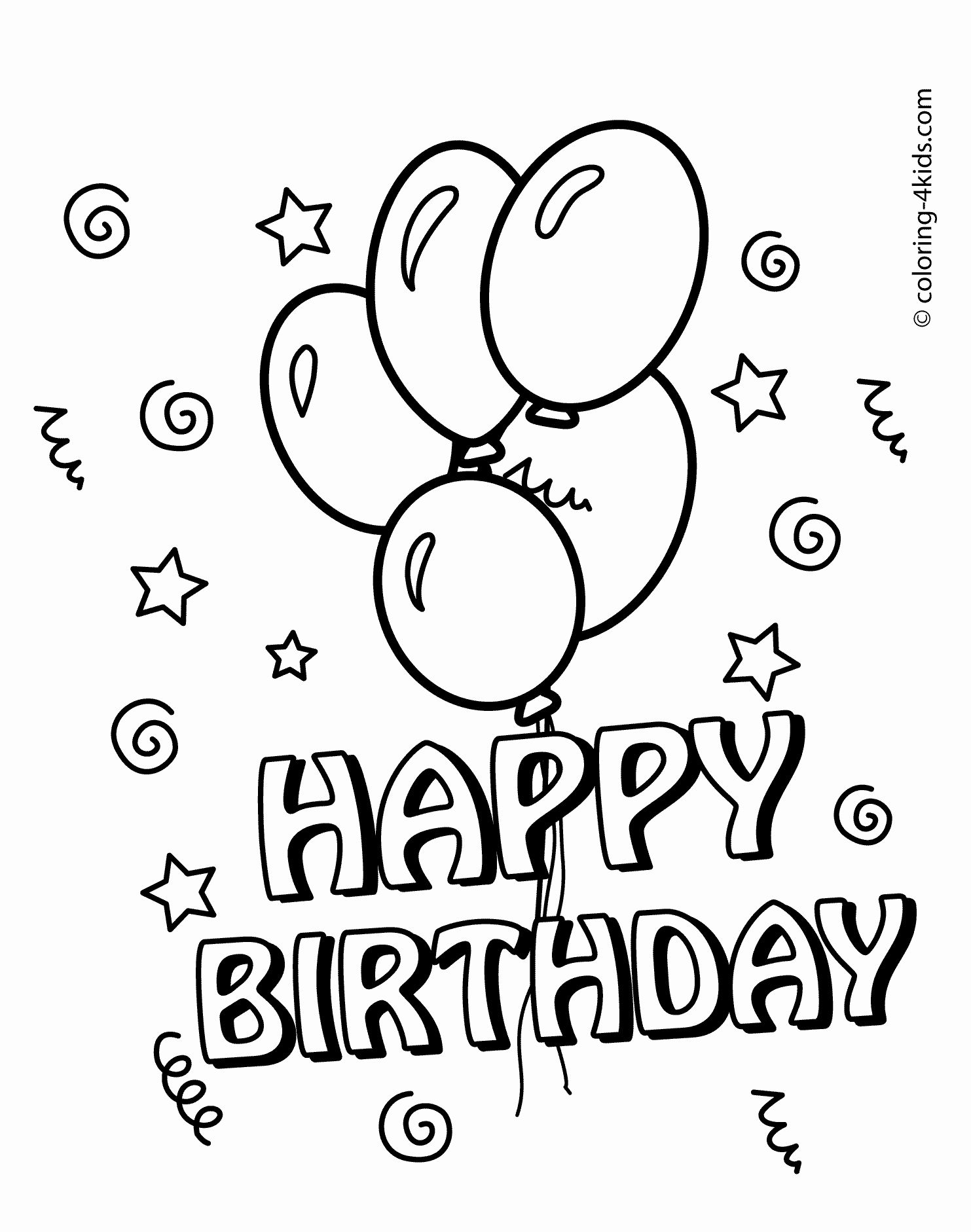 coloring template birthday card printable 6 best images of printable folding birthday cards coloring printable card birthday template