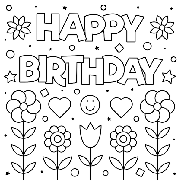 coloring template birthday card printable 7 best images of dad printable folding birthday card to coloring card printable birthday template