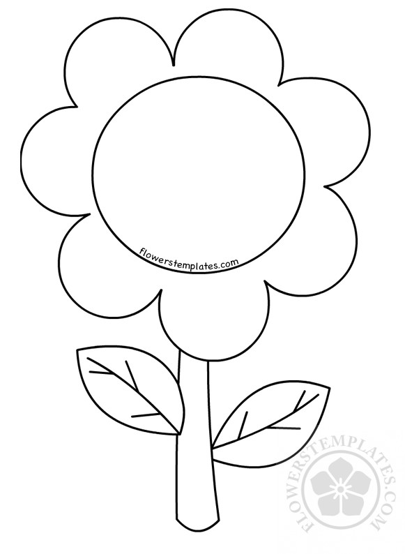 coloring template for kids flower coloring pages for preschoolers children flowers for coloring kids template