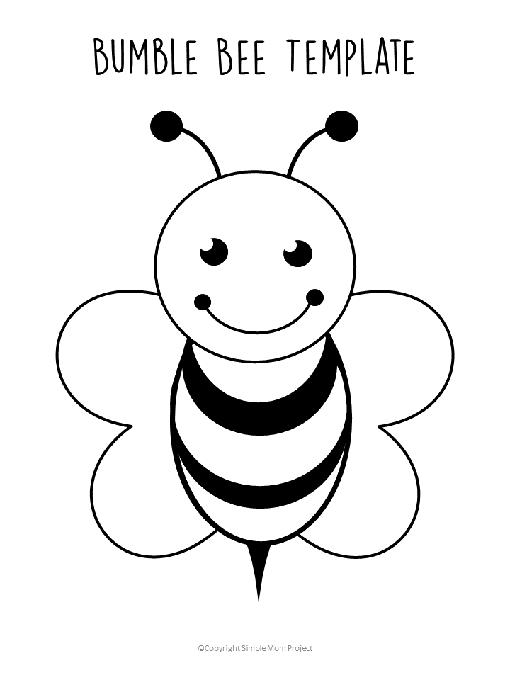 coloring template for kids free printable bee templates simple mom project template kids coloring for