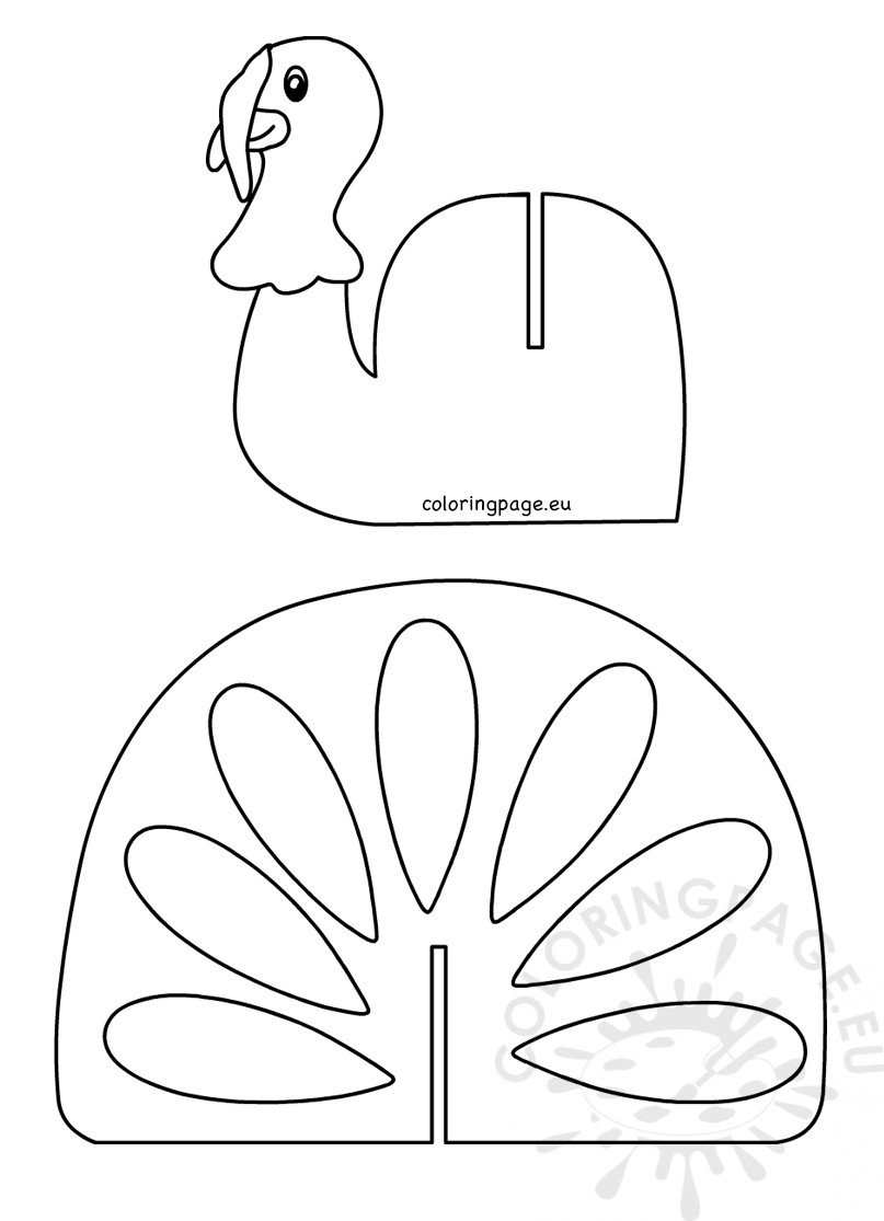 coloring template for kids thanksgiving turkey craft template printable coloring page template coloring for kids