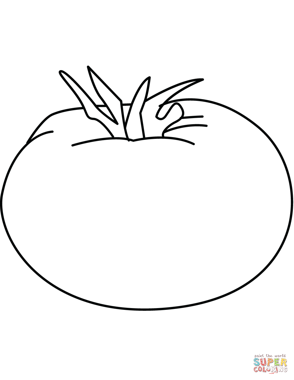 coloring tomato template tomato simple vegetables easy coloring pages for toddlers tomato template coloring