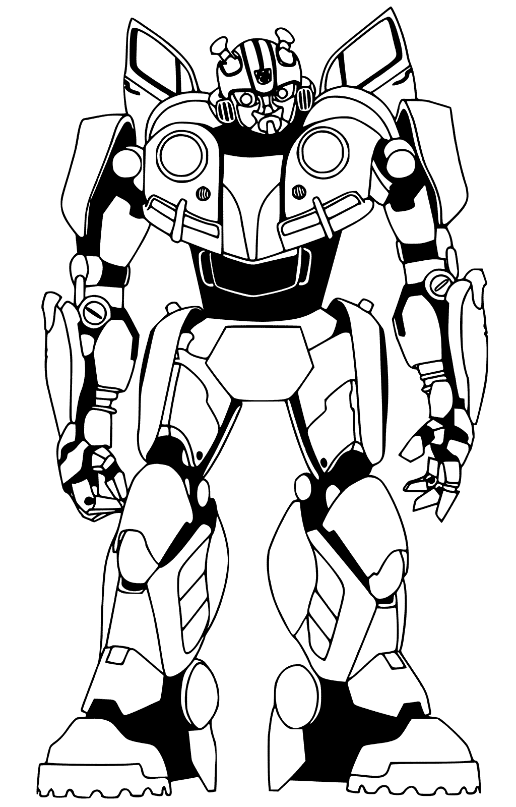 Coloring transformers bumblebee