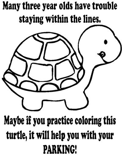 Coloring turtle parking