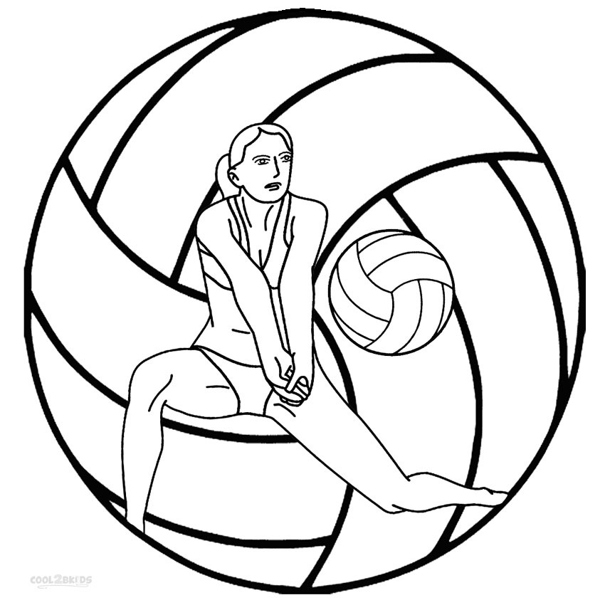Coloring volleyball