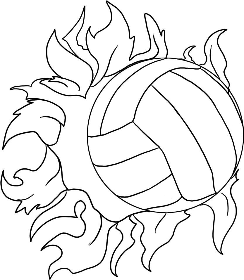 coloring volleyball printable volleyball coloring pages for kids cool2bkids coloring volleyball 1 1