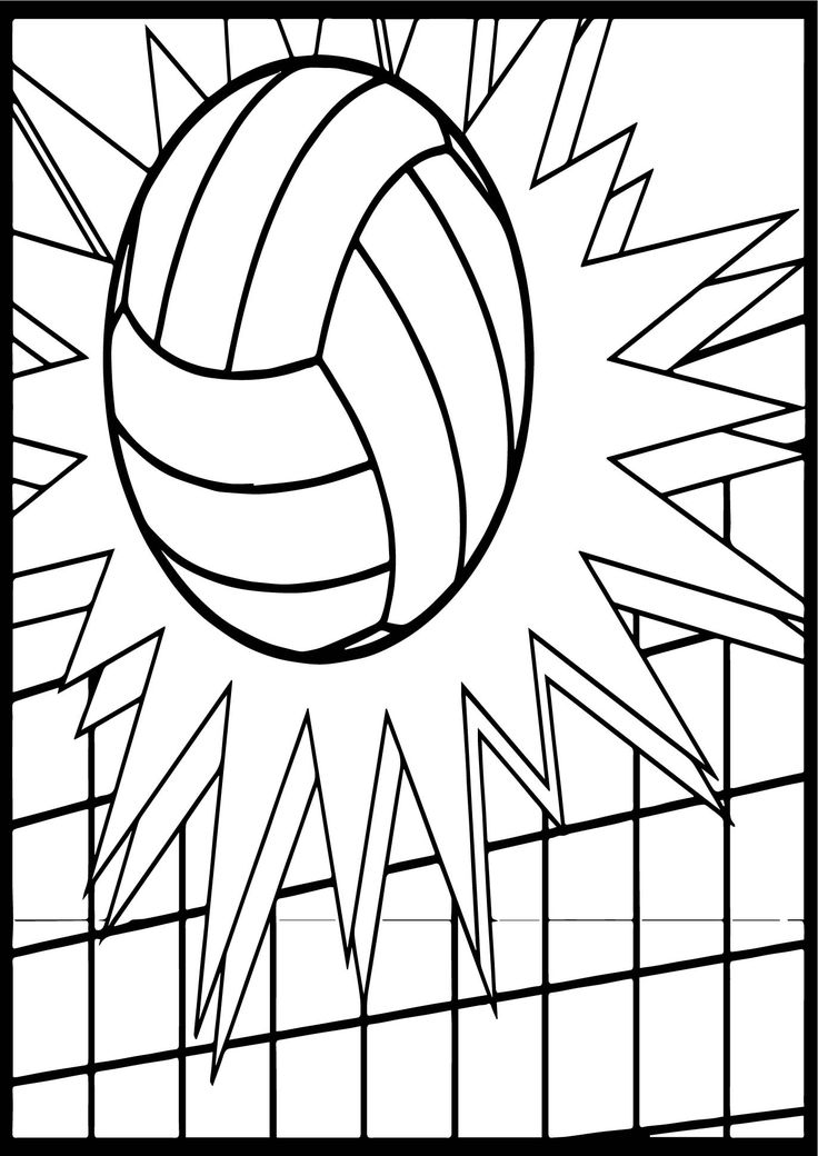 coloring volleyball printable volleyball coloring pages for kids cool2bkids coloring volleyball 1 2