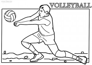 coloring volleyball printable volleyball coloring pages for kids cool2bkids coloring volleyball 1 3