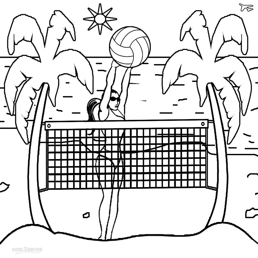 coloring volleyball super power spike volleyball coloring page download coloring volleyball