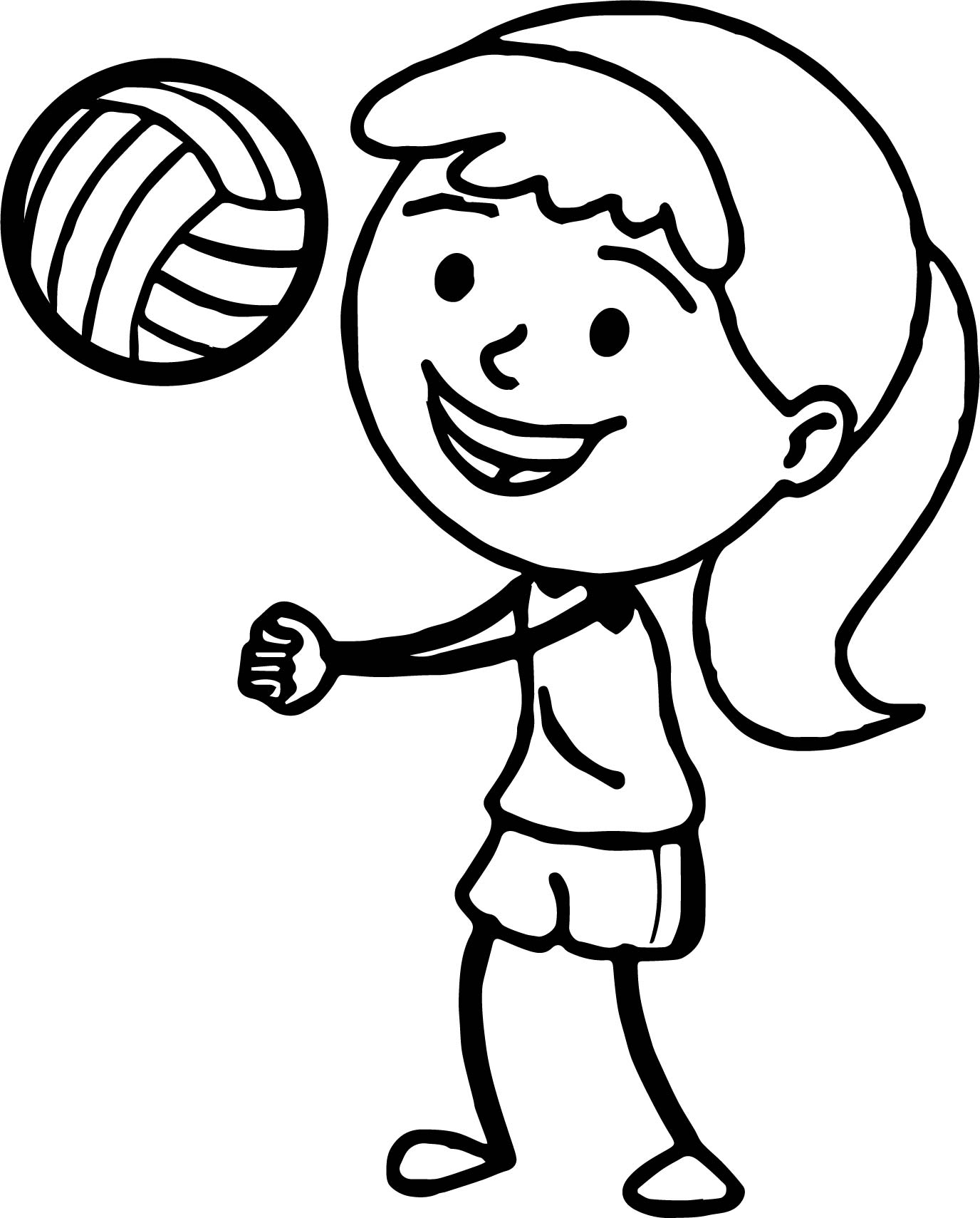 coloring volleyball volleyball coloring page download print online volleyball coloring