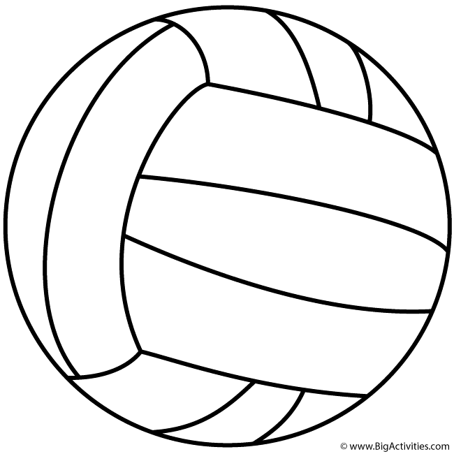 coloring volleyball volleyball coloring pages free download on clipartmag volleyball coloring 1 1