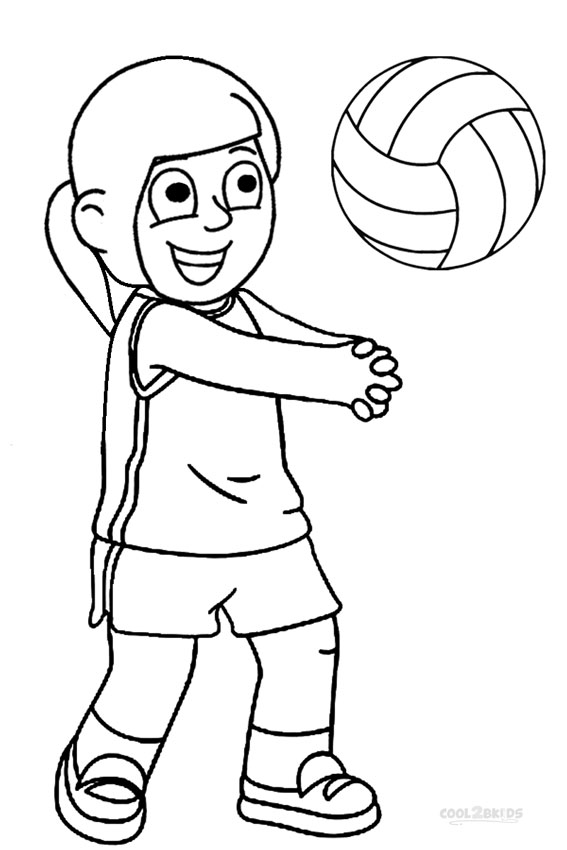 coloring volleyball volleyball coloring pages free download on clipartmag volleyball coloring 1 2