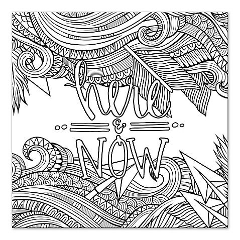 coloring wall art quothere and nowquot custom coloring canvas wall art coloring art coloring wall