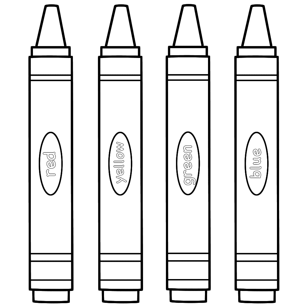 coloring with crayons clipart crayon box coloring page free download on clipartmag crayons with clipart coloring