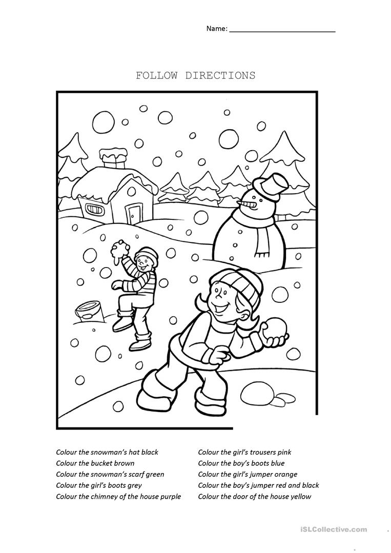 coloring with instructions follow directions worksheet free esl printable with instructions coloring