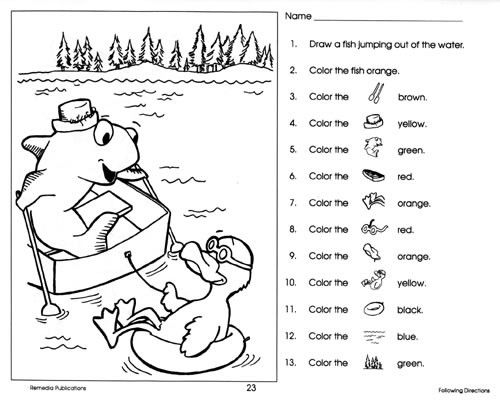 coloring with instructions free following directions worksheets google search coloring with instructions