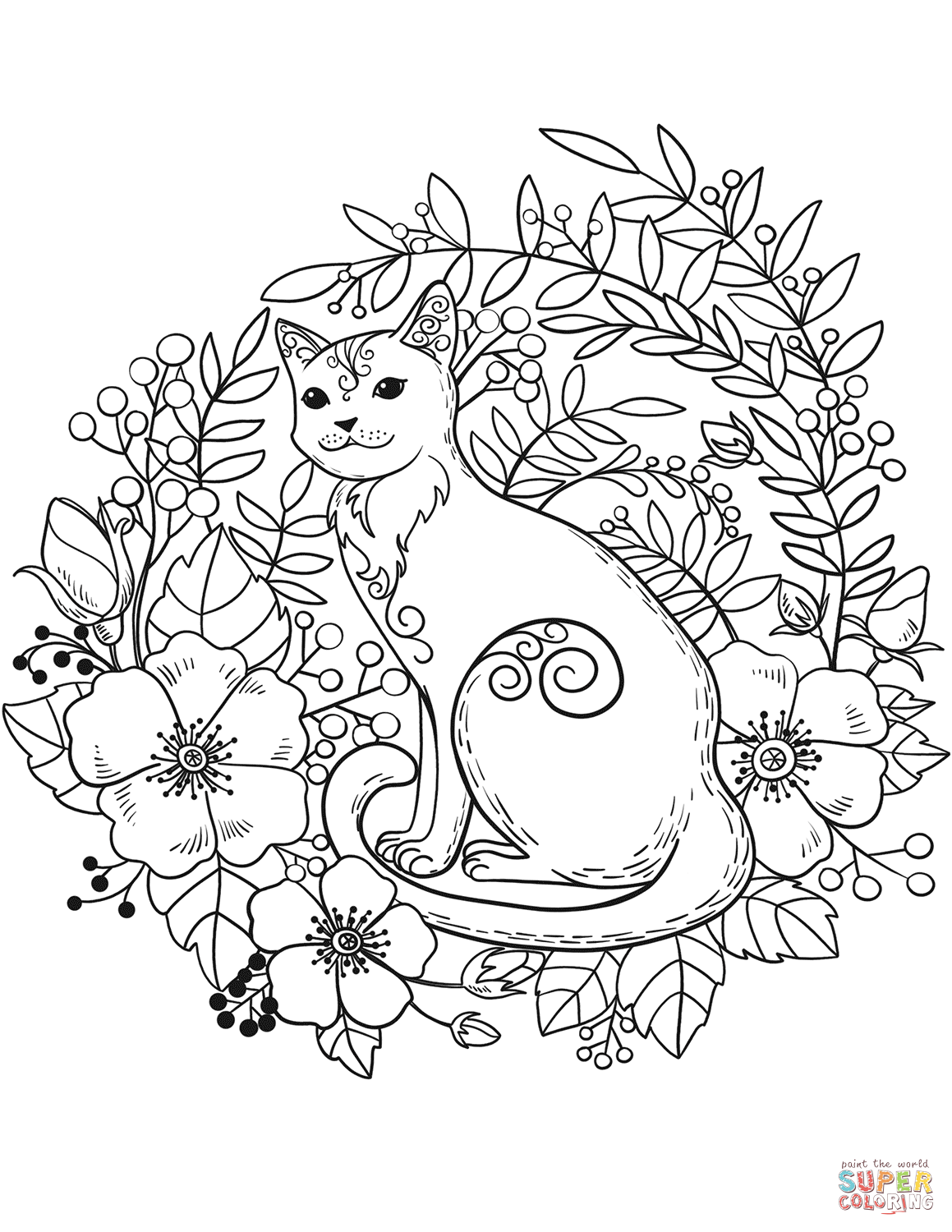 coloring worksheets cat cat coloring page 2 super simple coloring worksheets cat