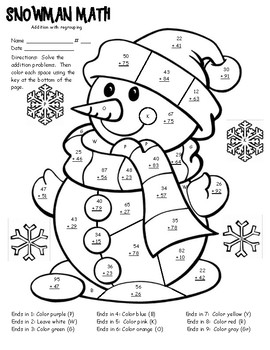 coloring worksheets for grade 2 pdf winter math facts color sheet 2 digit addition with grade worksheets pdf 2 for coloring