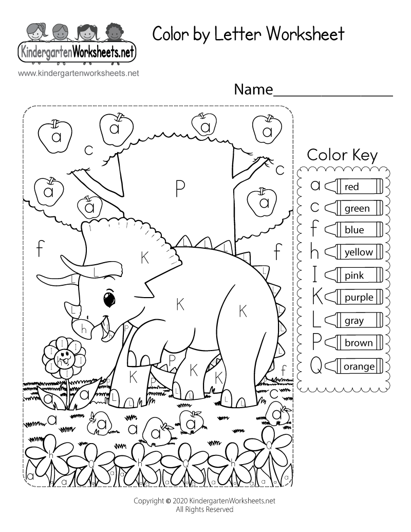 Coloring worksheets for kindergarten pdf