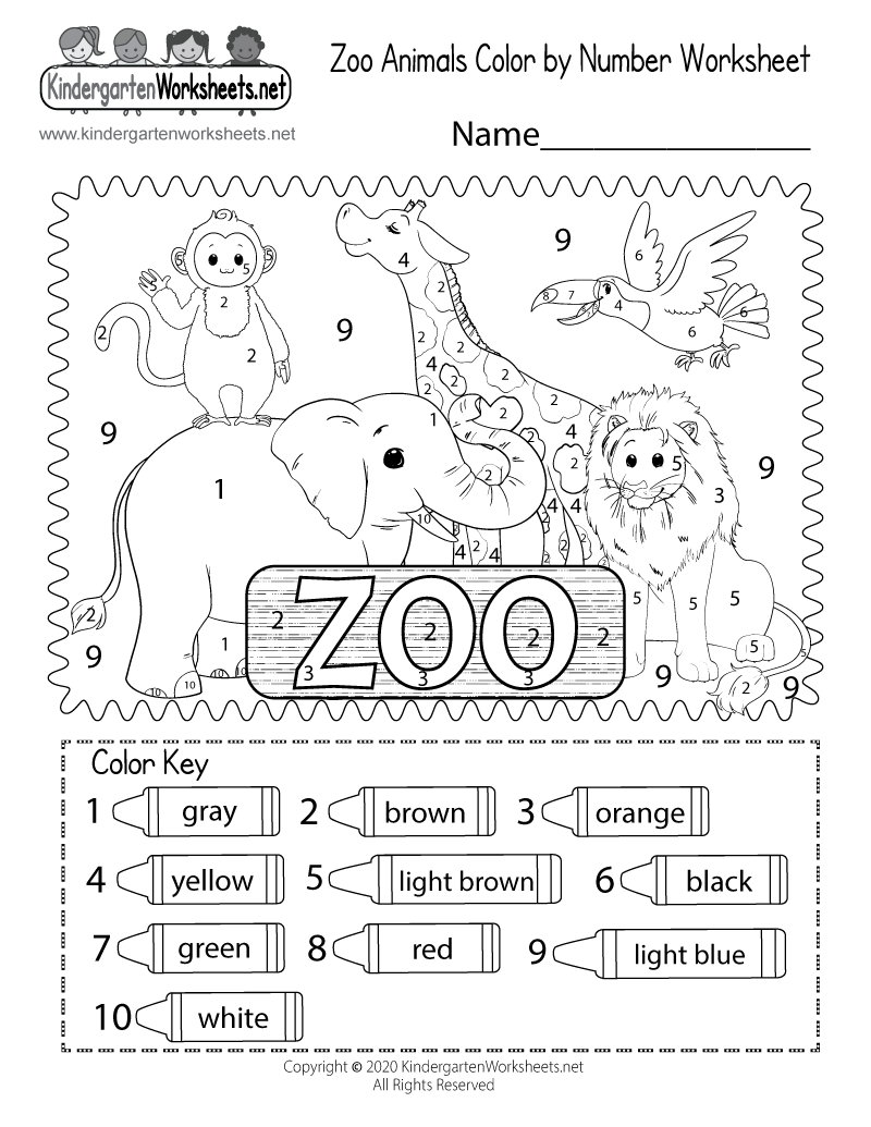 coloring worksheets for kindergarten pdf zoo color by number worksheet for kindergarten free coloring for kindergarten pdf worksheets