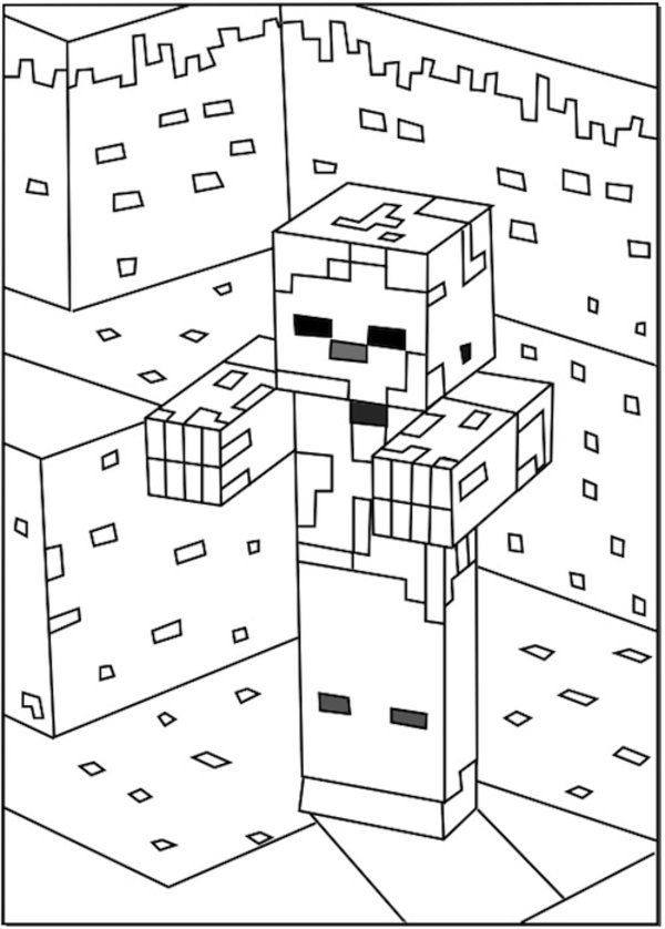 coloring zombie minecraft minecraft drawing zombie at getdrawings free download minecraft zombie coloring
